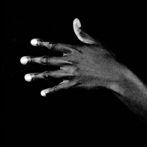 black hands white